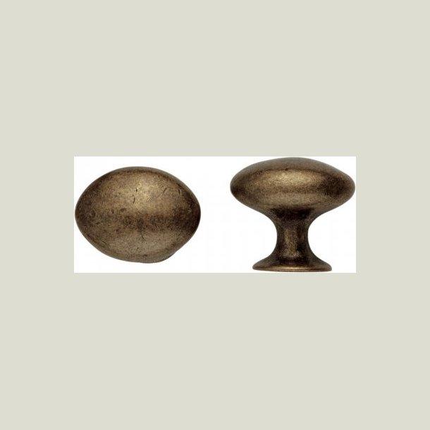 Oval knop antik behandlet
