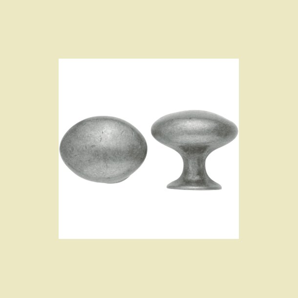 Oval knop tin farved