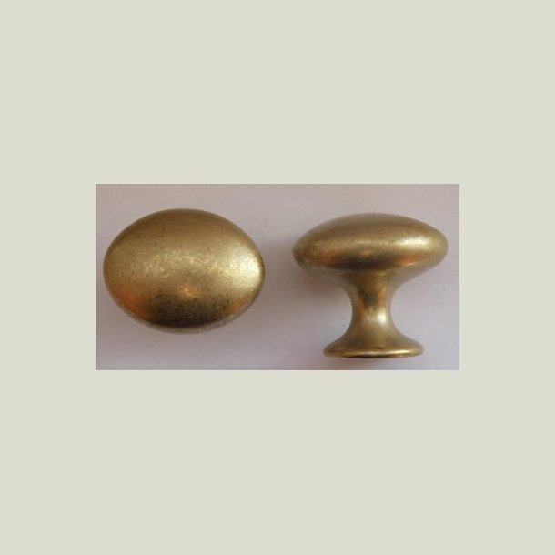 Oval knop messing