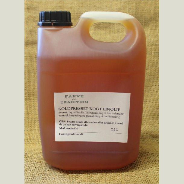Kogt koldpresset linolie 2,5 L