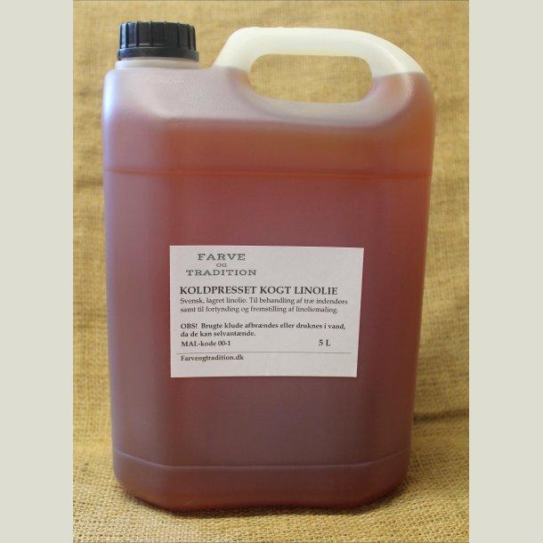 Kogt koldpresset linolie 5 L