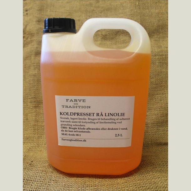 Rå koldpresset linolie   2.5 L