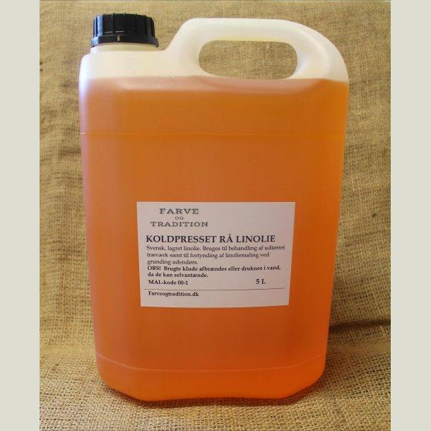 Rå koldpresset linolie  5 L
